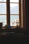 Utsikt från stuga